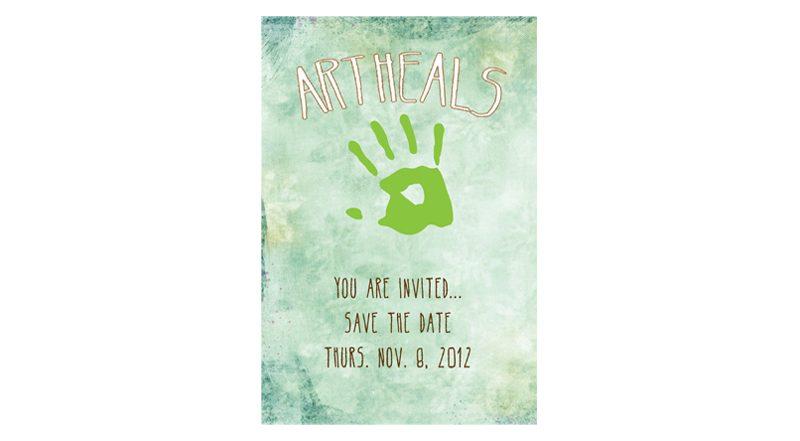 Art Heals Fundraiser Postcard